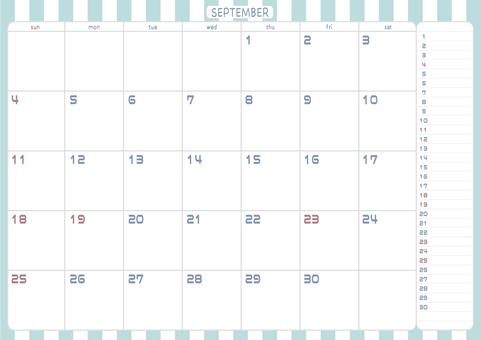 2022 年 9 月日曆
