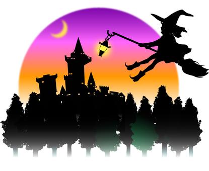 Halloween material postcard
