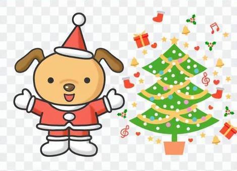 可愛的動物聖誕老
