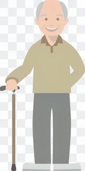 Elderly people who wear canes _ 1