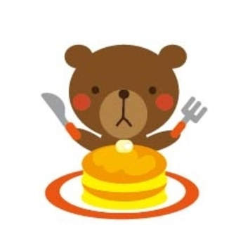 Bear and hot cake ~ red