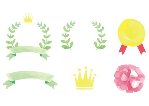Watercolor award illustration