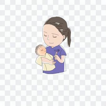 新生兒和護士