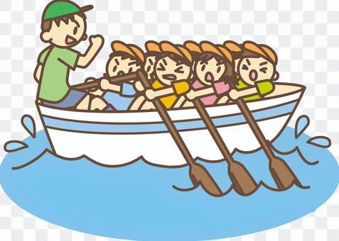 切割機划船