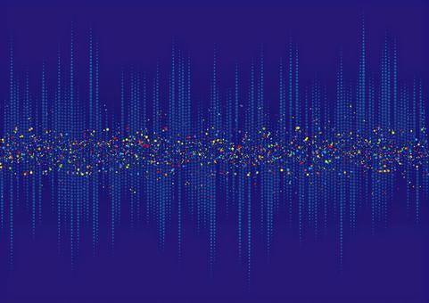 波形聲波音樂圖像背景