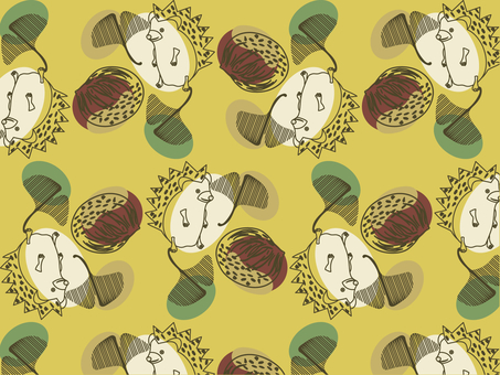 Hedgehog and chestnut picking pattern