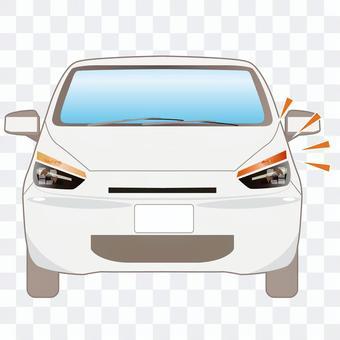 發出轉彎信號的汽車的例證