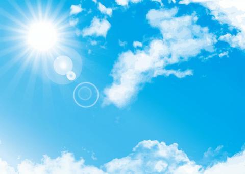 藍藍的天空晴朗晴朗的天空紋理背景材料壁紙圖片