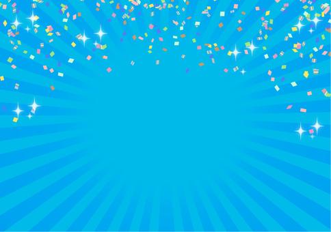集中線(中央)水色