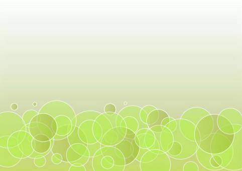 新鮮的綠色泡沫
