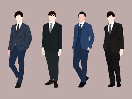 Suit men set