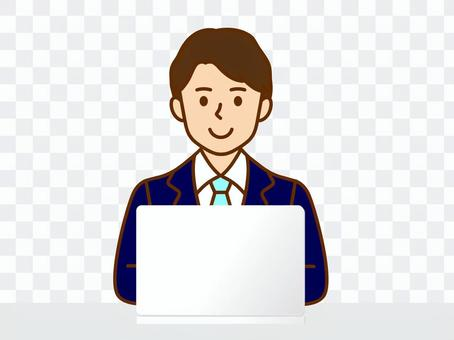 オンライン ビジネス 男性 仕事 会議