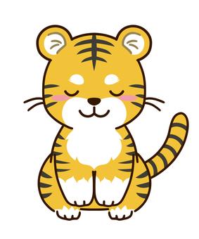 Bowing tiger character