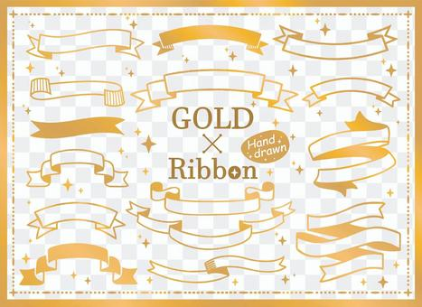 Gold ribbon frame set