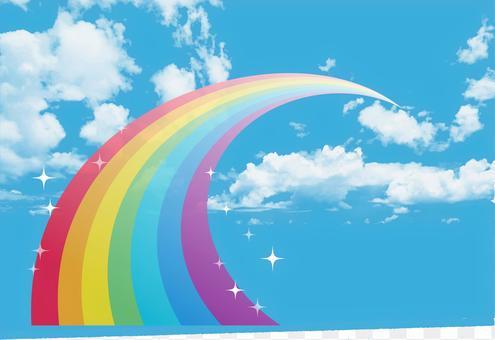 藍天和彩虹1