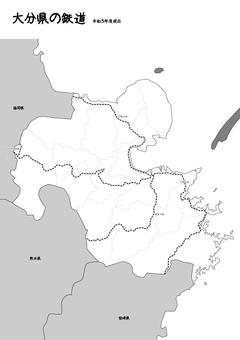 大分鐵路鐵道日本地圖黑白