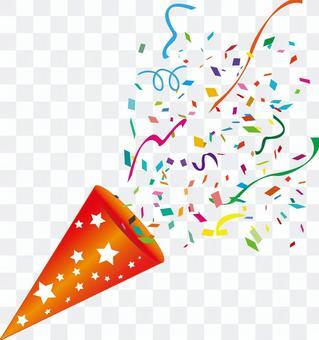 黨餅乾五彩紙屑雪絲帶慶祝節日