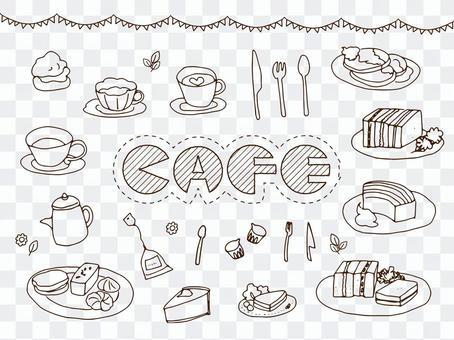 Cafe · Light snack painter picture set