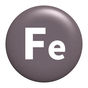 Iron Fe symbol icon transparent