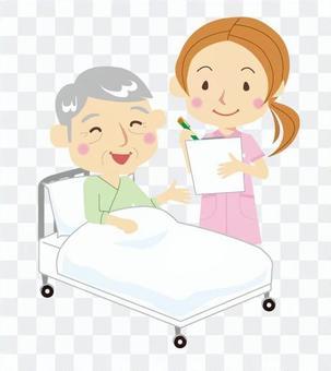 護士婦女和病人