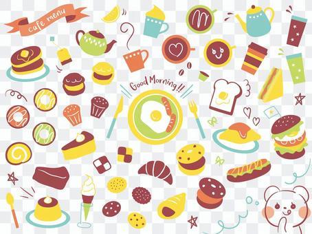Cafe menu various 01