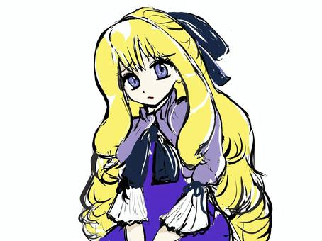 金髪の少女(不満)