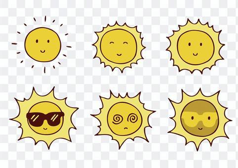 夏天太陽落山
