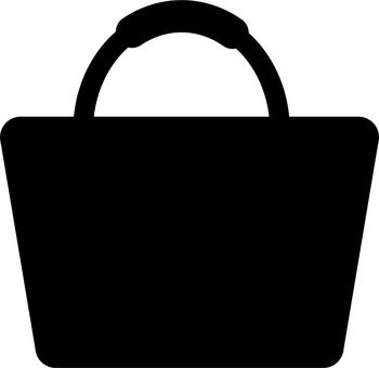 Black bag icon (silhouette)