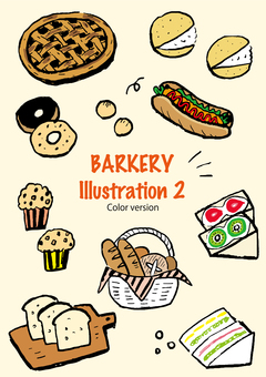 Bread and sweets set (color ver.)