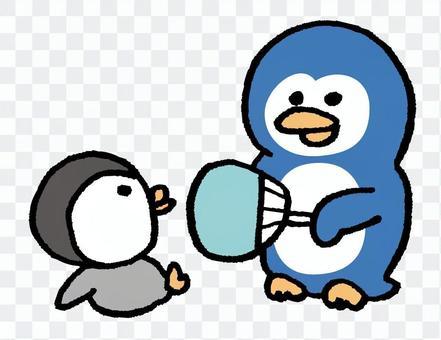 企鵝父母和孩子