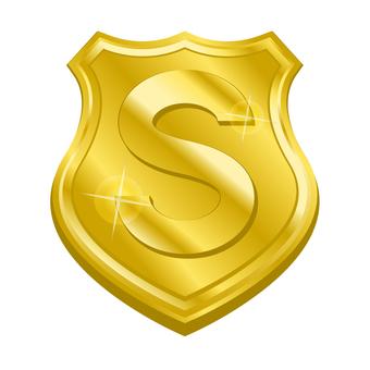S rank medal emblem