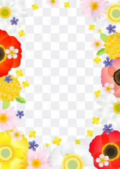 春季花框立式透明螞蟻