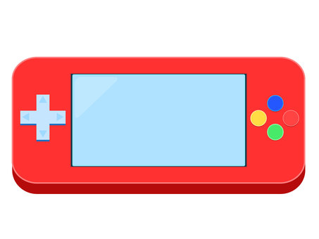 Handheld game console red