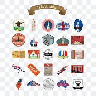 Travel label pack