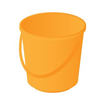 桶(橙色)