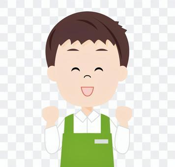 男超市店員(膽子姿勢)