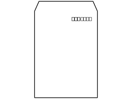 黑白方格2號信封