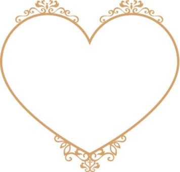 心臟裝飾框架