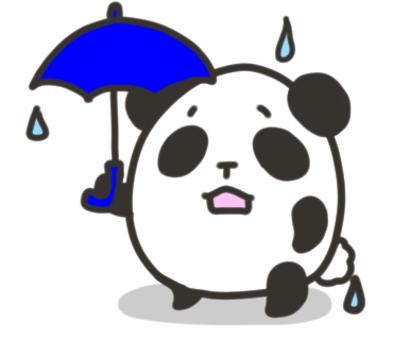 熊貓打著傘