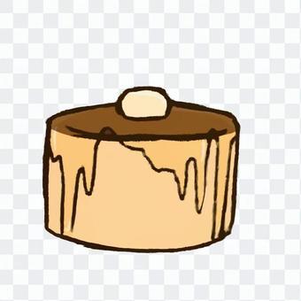 分厚いパンケーキ