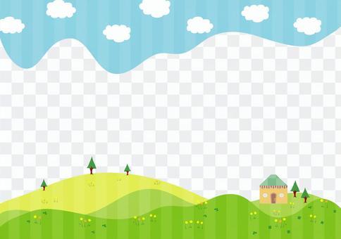 藍天和綠色景觀3