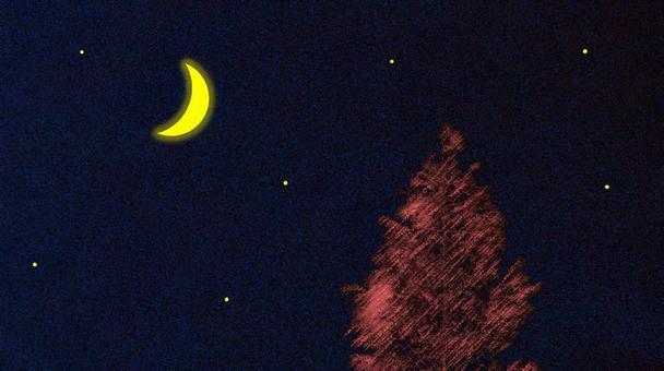 新月的夜空