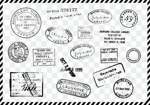 舊郵票單調
