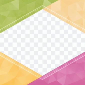 六角形のポップなフレーム03