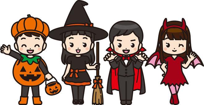 Children in Halloween costumes 1