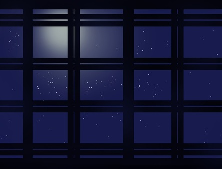 Lattice window (starry sky)