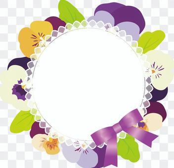 三色堇花環