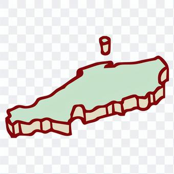 三維手寫中國地區地圖