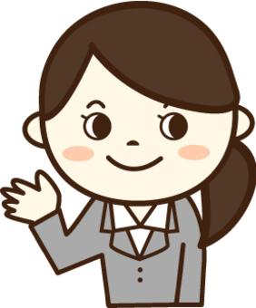 一個西裝女人(微笑1)