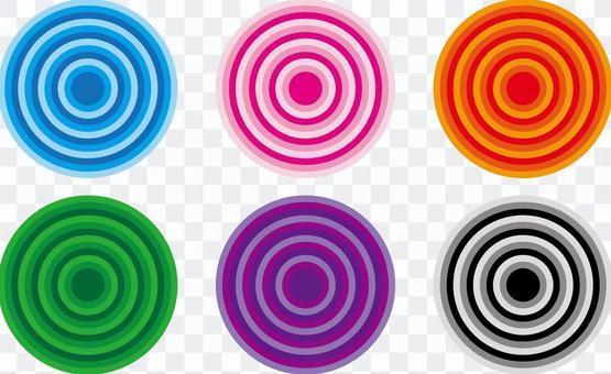 旋轉五顏六色的集合